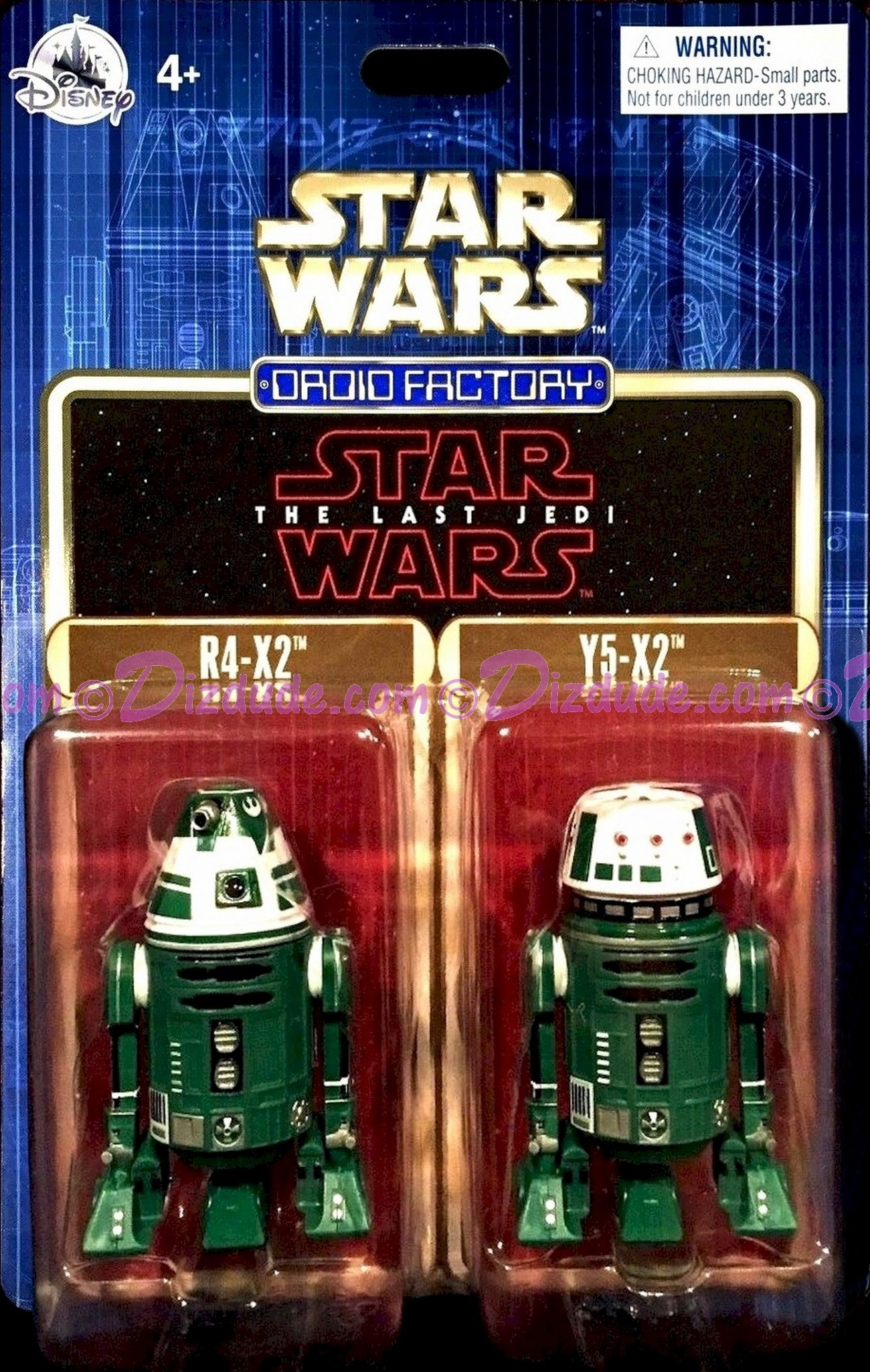 Star Wars The Last Jedi Twin Pack  R4-X2 & Y5-X2 Astromech Droids - Disney World DROID FACTORY Action Figures 3¾ Inch - Limited Release © Dizdude.com