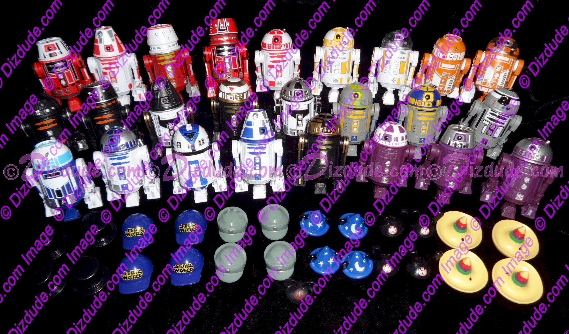Full Set of All 25 Droids Series 2 from Disney Star Wars Astromech Build-A-Droid Factory © Dizdude.com