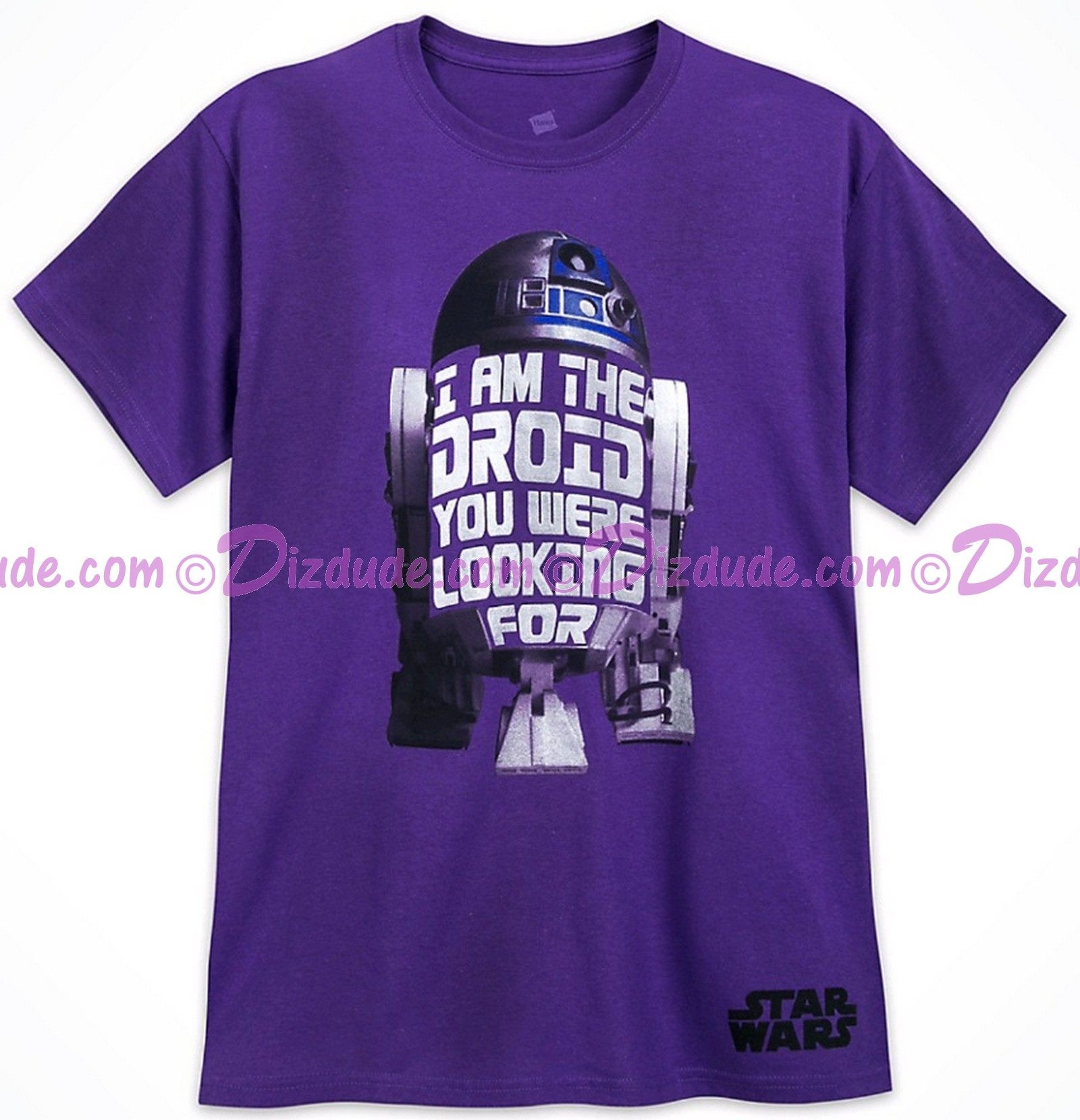 Disney Star Wars R2-D2 Droid Companion Adult T-Shirt (Tshirt, T shirt or Tee) © Dizdude.com