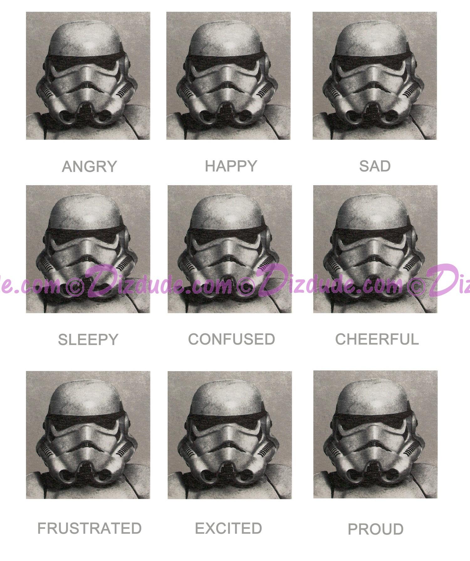 "Disney Star Wars Stormtrooper Expressions ~ ""Today I Am"" Youth T-Shirt (Tshirt, T shirt or Tee) © Dizdude.com"
