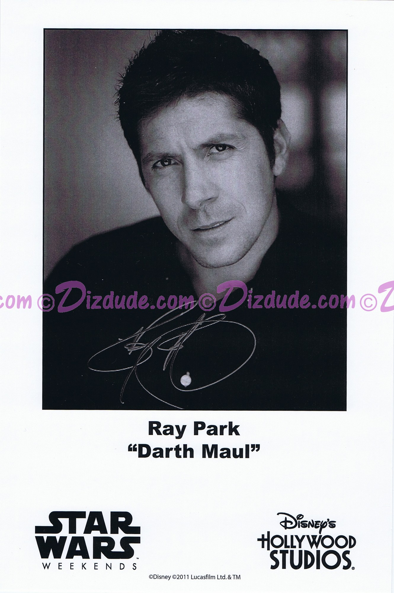 Ray Park who played Darth Maul Presigned Official Star Wars Weekends 2011 Celebrity Collector Photo © Dizdude.com