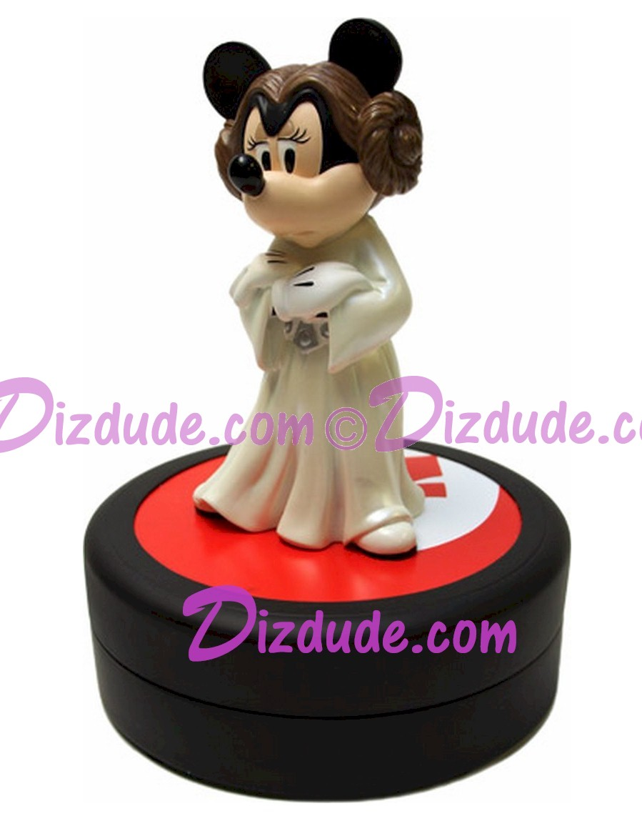 Disney Star Wars Weekends Minnie Mouse as Princess Leia Commemorative Medium Big Fig with pin LE 1977 ~ Dizdude.com