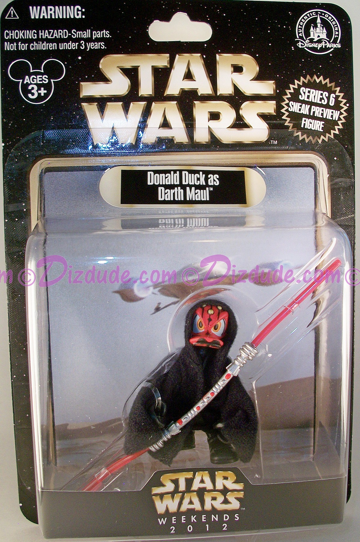 Official Disney Star Wars Weekend 2012 Donald Duck as Darth Maul Action preview series 6 Figure - © Dizdude.com