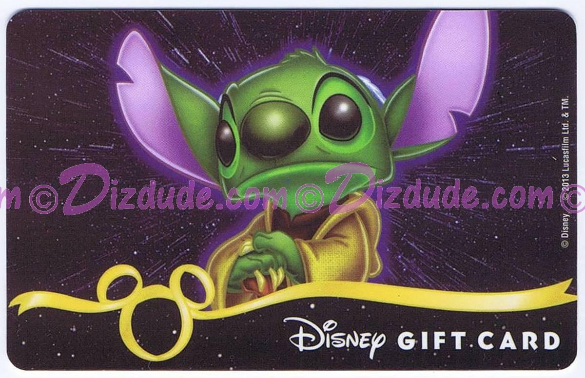 Star Wars Gift Card with Stitch as Yoda ~ Disney Star Wars Weekends 2013 © Dizdude.com