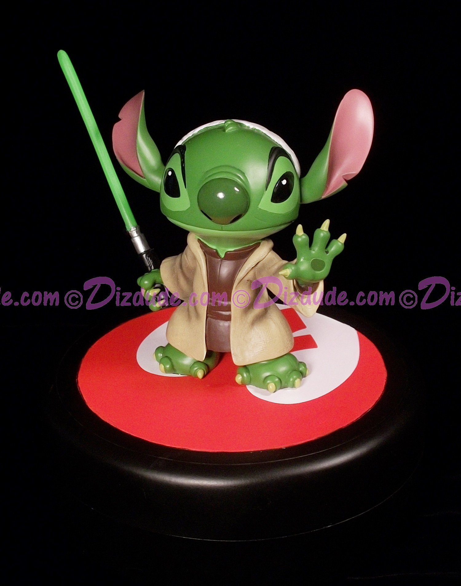 Disney Star Wars Weekends 2013 Stitch as Jedi Master Yoda Medium Big Fig with pin LE 1977 © Dizdude.com