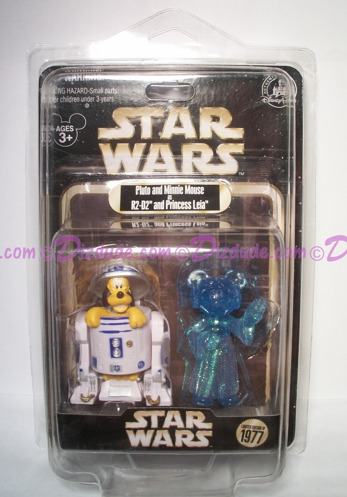 Disney Star Wars Pluto as R2-D2 & Minnie Mouse as Princess Leia Action Figure Individually Numbered Limited Edition 1977 ~ Official Star Wars Weekends 2015 Event © Dizdude.com