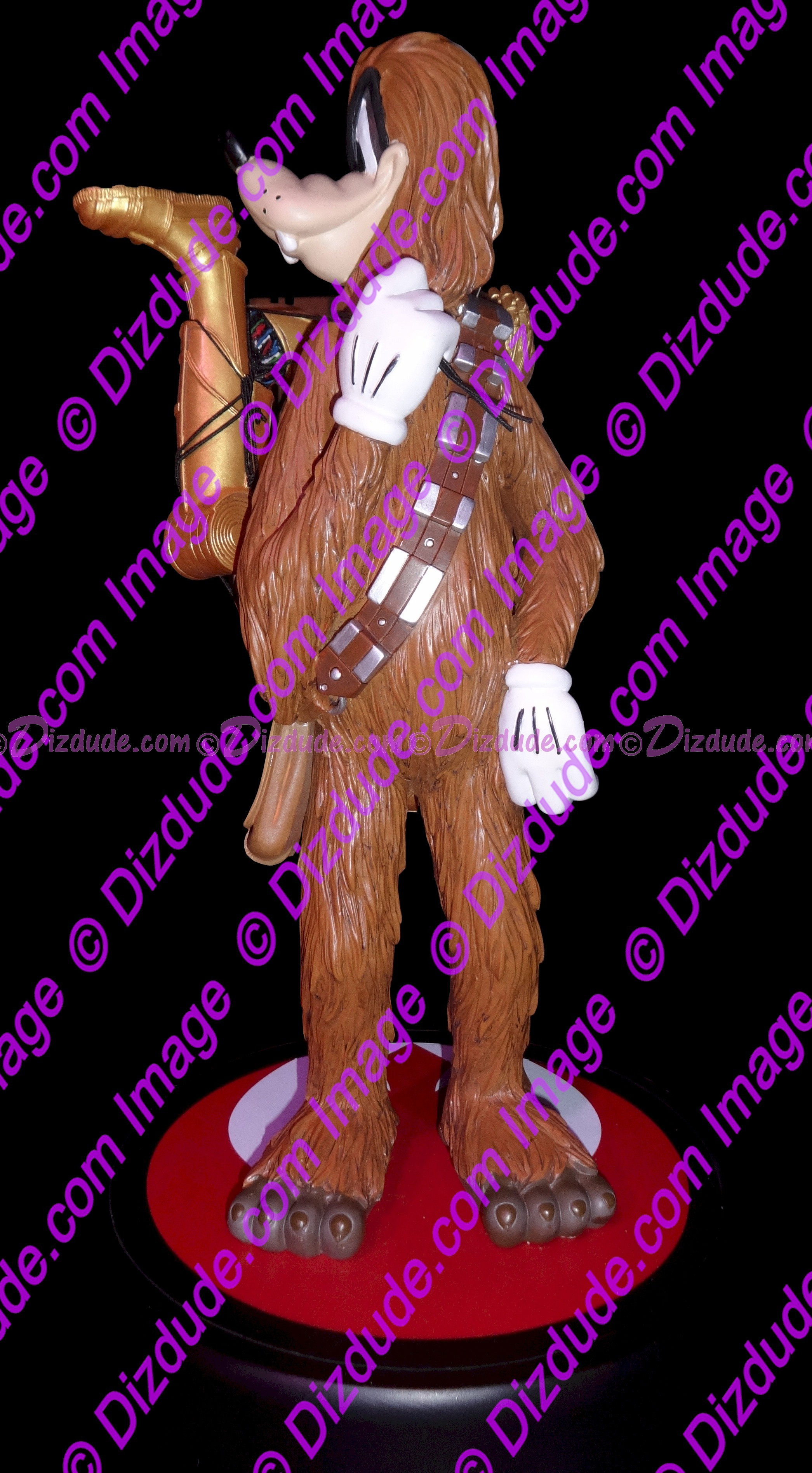 Goofy as Chewbacca Medium Big Fig with pin LE 1977  - Official Disney Star Wars Weekends 2015 Event ©Dizdude.com