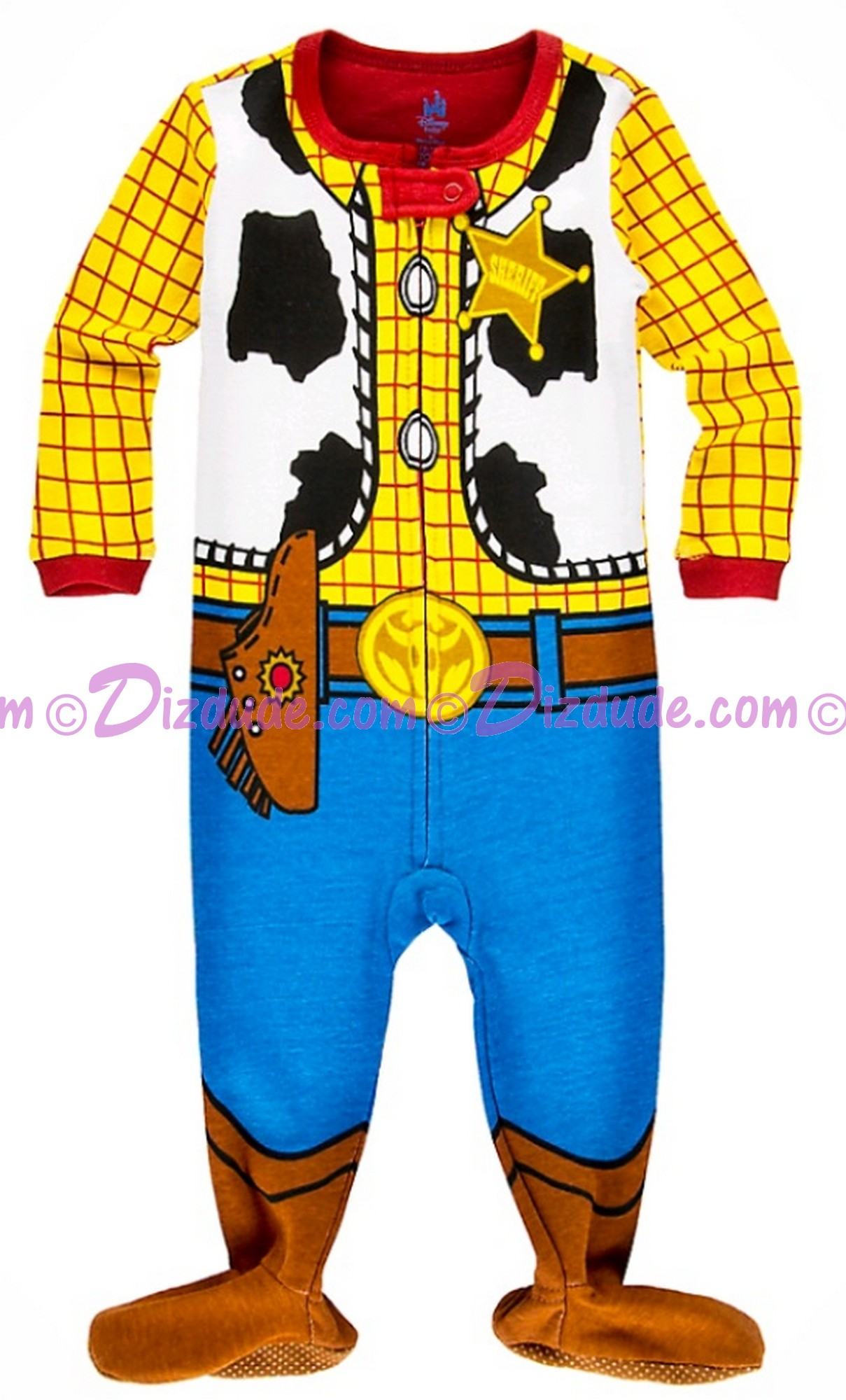 92bc3a3f6 DIZDUDE.com | Disney's Toy Story Land Woody Costume Baby Jumpsuit ...