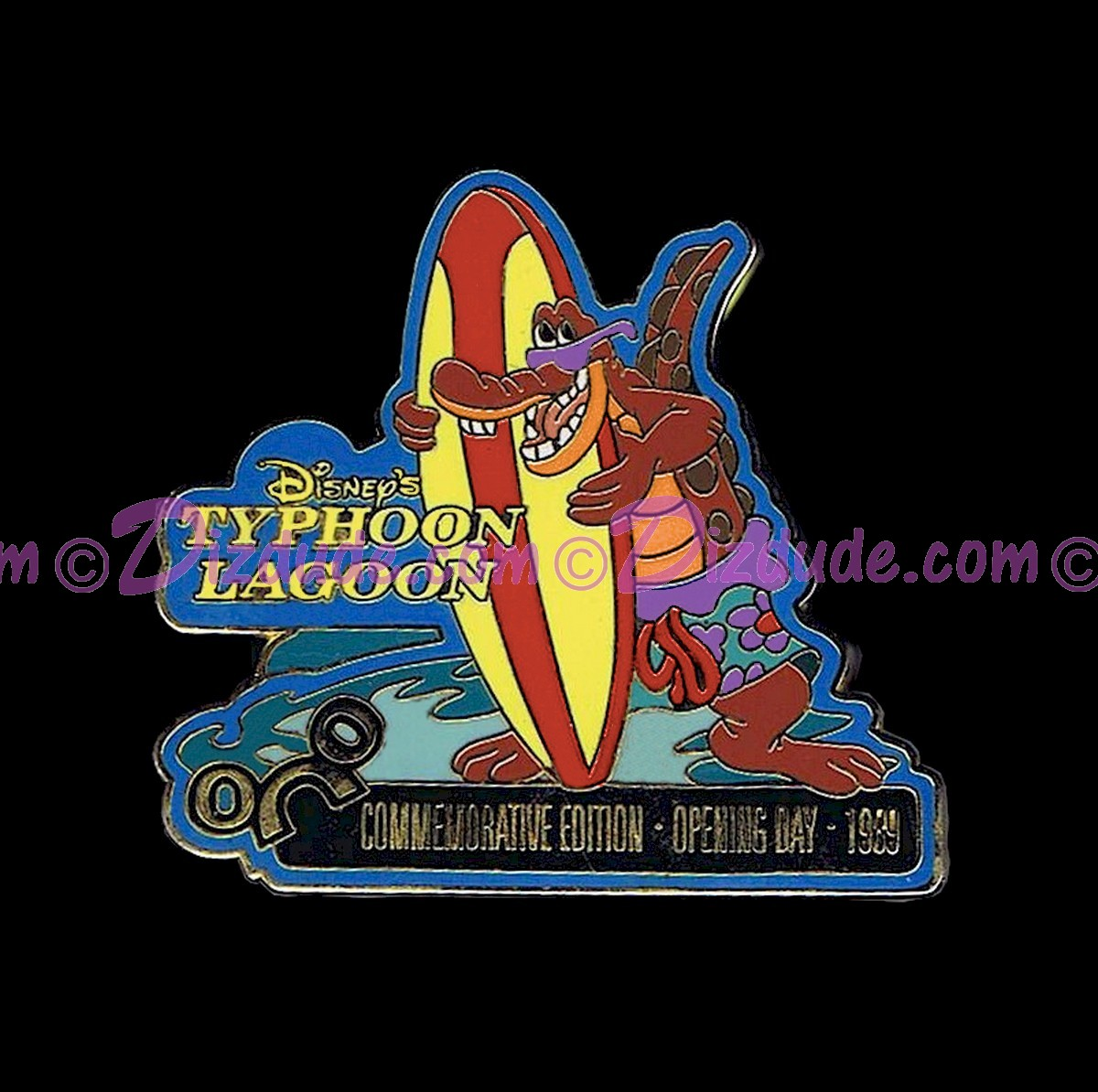 Walt Disney World June 2000 Pin of the Month - Typhoon Lagoon ©Dizdude.com