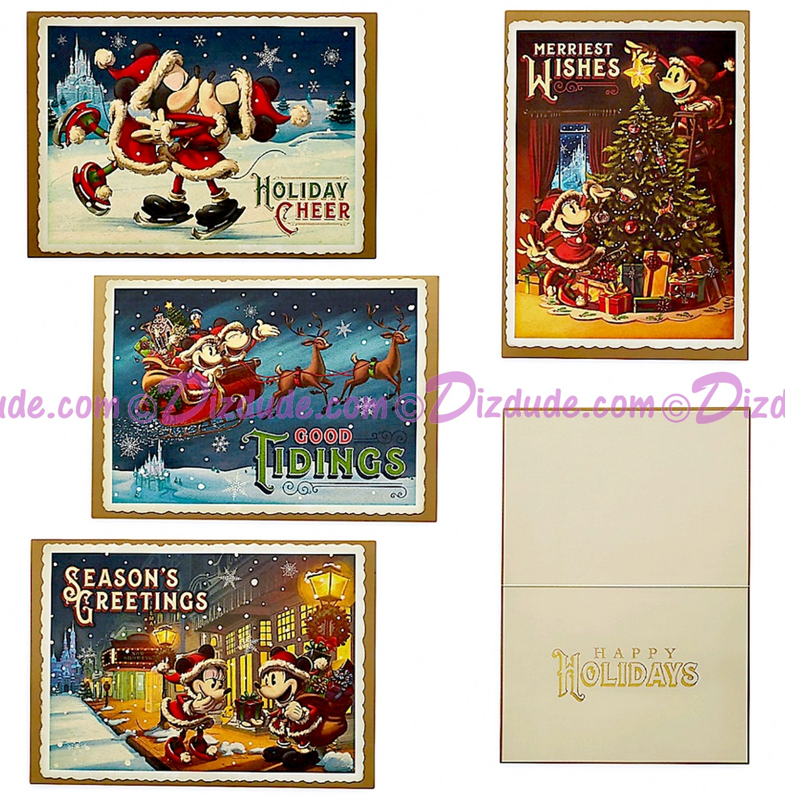 Disney Turn of the Century Mickey and Minnie Box of 16 Greeting Cards © Dizdude.com