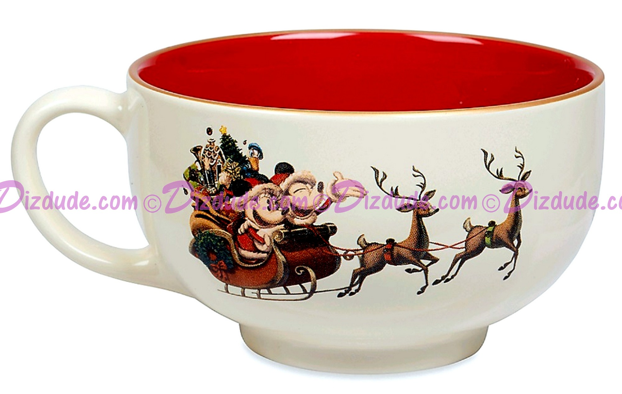 Disney Turn of the Century Mickey and Minnie Kissing Christmas Mug © Dizdude.com