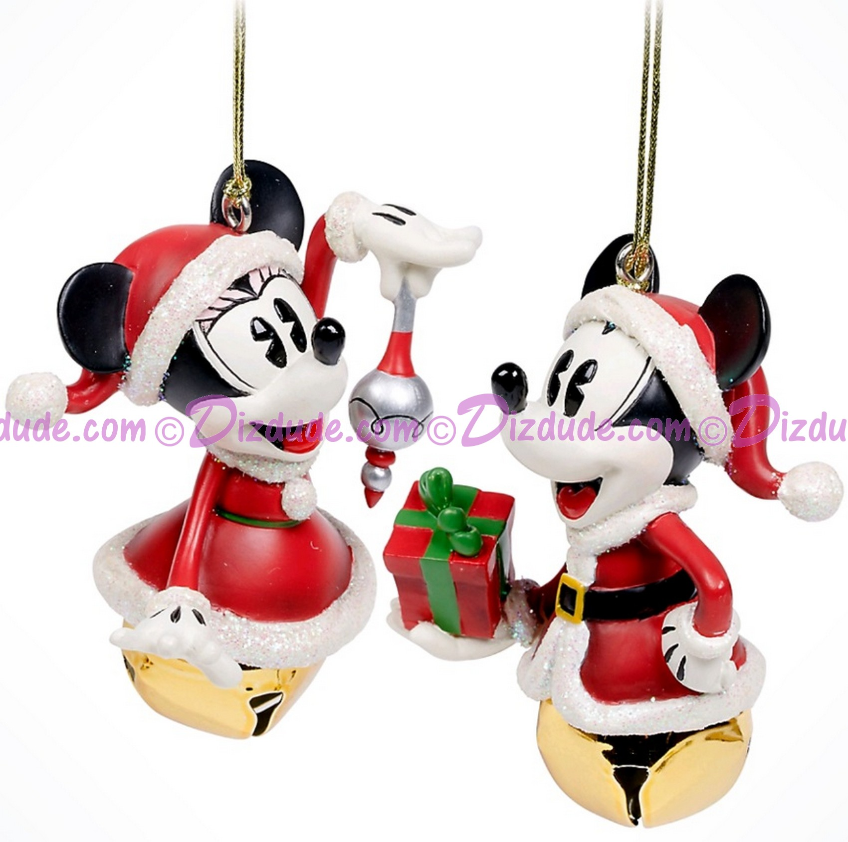 Disney Turn of the Century Mickey and Minnie Bell Set Christmas Ornaments © Dizdude.com