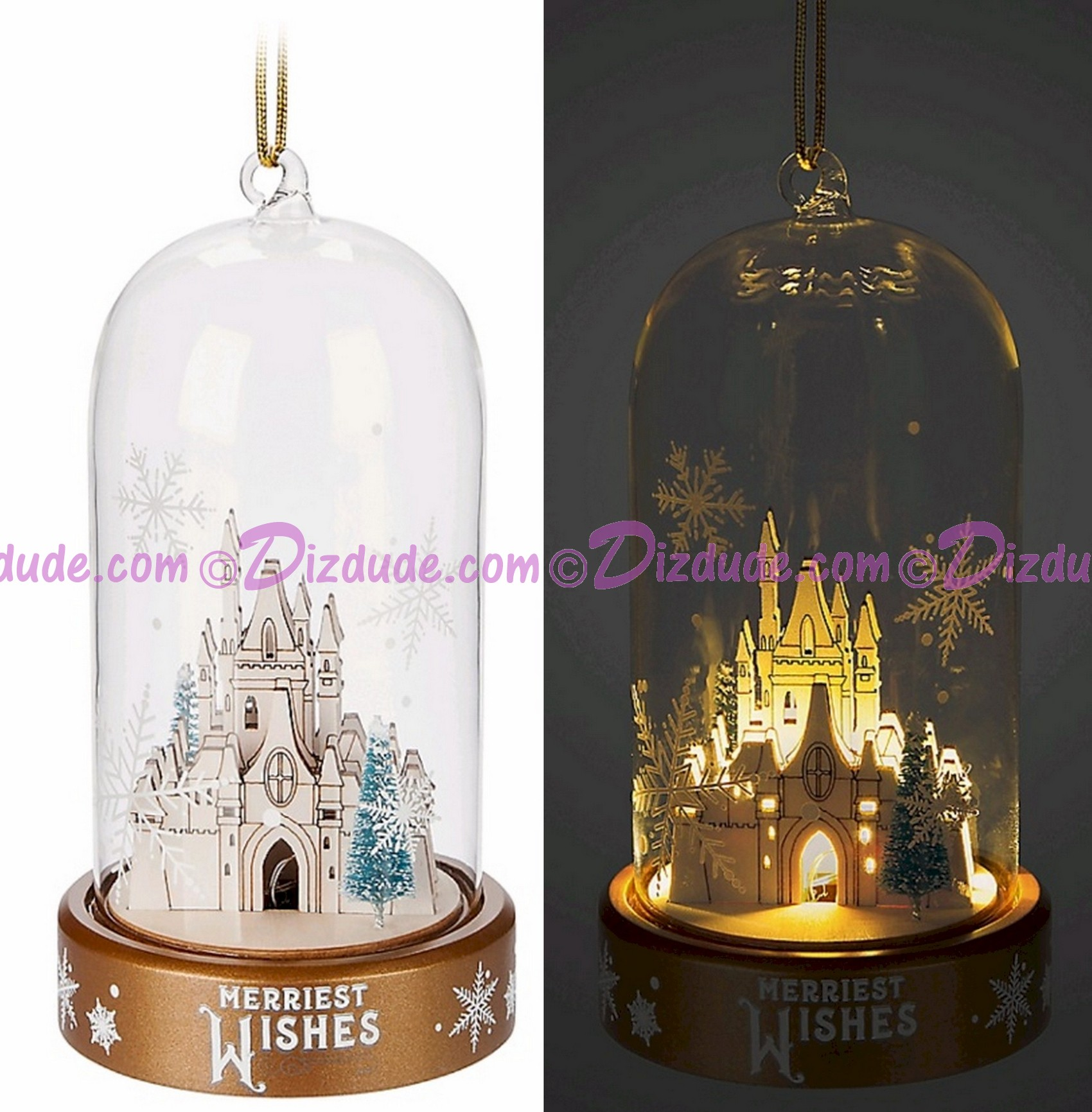 Disney Turn of the Century Light Up Dome Christmas Ornament © Dizdude.com