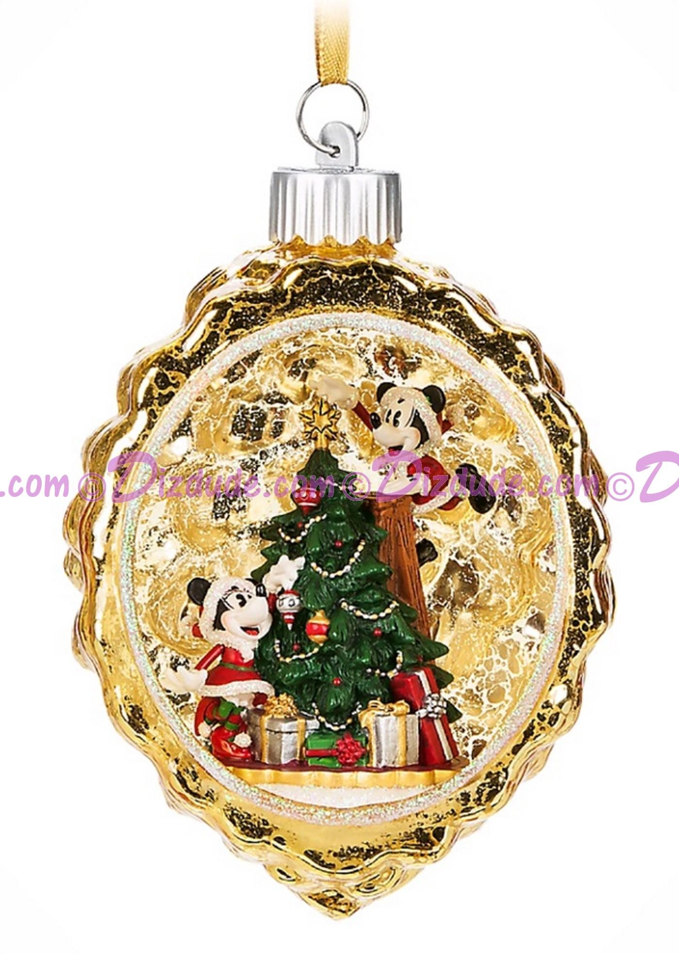 Disney Turn of the Century Mickey and Minnie Light Up Christmas Ornament © Dizdude.com