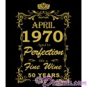 1970 50th Birthday Aged To Perfection T-Shirt or Tank Top (Tshirt, T shirt or Tee)