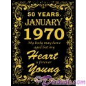 1970 50th Birthday Forever Young T-Shirt or Tank Top (Tshirt, T shirt or Tee)