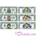 3 Note Set 2014 D Mountain Attractions Disney Dollars set MINT - $1 SPLASH Mountain, $5 Big Thunder Mt RailRoad & Space Mt ~ Final Year ~ Each Dollar has Mickey Mouse on Ride