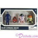 Star Wars Galaxy's Edge Color Changing 4 Droid Set from Disney World Action Figures 3¾ Inch 4 Droid Multi-Pack with 1 Protocol Droid and 3 Astromech Droids