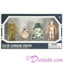 Star Wars Galaxy's Edge Color Changing 4 Droid Set from Disney World Action Figures 3¾ Inch 4 Droid Multi-Pack with 2 Protocol Droid and 2 Astromech Droids