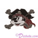 Disney Pirate Mickey Cross Bones Pin