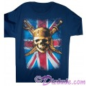 Vintage Pirates Skull and Cross Swords with Union Jack Adult T-shirt (Tee, Tshirt or T shirt)