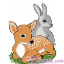 Spring Babies with Fawn & Rabbit T-Shirt and Tank Top (Tshirt, T shirt or Tee)