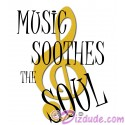 Music Soothes The Soul T-Shirt or Tank Top (Tshirt, T shirt or Tee)