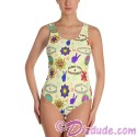 Peace Love & Happiness All Over Print Ladies Swimsuit