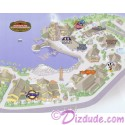 Walt Disney World Pin Pursuit - Down Town Disney Pin Event Map Pin-Board with Completer Pin LE 3000