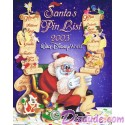 Walt Disney World - Santa's Pin List 2003 Pin-Board **ERROR** with SPELLING MISTAKES
