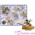 Autographed Walt Disney World Pin Pursuit - Passport to Our World Map Pin-Board 2001 with Mickey Mouse Completer Pin Limited Edition 5000