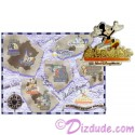 Autographed Walt Disney World Pin Pursuit - Passport to Our World Map Pin-Board 2001 with Autographed Mickey Mouse Completer Pin Limited Edition 5000