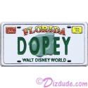 Walt Disney World - Cast Lanyard Series 1 - Dopey License Plate Pin