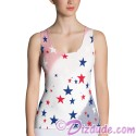 Stars and Stripes All Over Print Ladies Tank Top