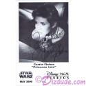 Carrie Fisher Presigned Official Star Wars Weekends 2000 Celebrity Collector Photo