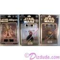Disney Star Wars Weekend 2012 Complete Set of 3 Action Figures ~ Rizzo as Jedi Master Yoda, Donald Duck as Darth Maul Series 6 figure event packaging LE 600 And Donald Duck as Savage Opress LE & Individually Numbered 2012