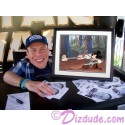"""Autographed hand painted Cel ~ Disney STAR WARS:""""Return of the Jedi"""" Black Framed JEDI MICKEY in """"Defend-Ears of the Kingdom"""" by Warwick Davis, Billy Dee Williams,Silas Carson, Peter Mayhew and Costa Alavezos & David Rippberger two of the Disney Artists"""