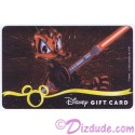 Star Wars Gift Card with Donald Duck as Darth Maul ~ Disney Star Wars Weekends 2013