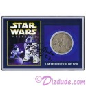 Autographed By Actor Kenny Baker Disney's Star Wars Weekends 2001 R2-D2 & Sorcerer Mickey Nickel Silver Classic Collectors Coin