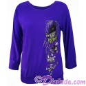 Disney Hollywood Studios Twilight Zone ~ Tower of Terror Ride Character Drop Long Sleeve Ladies Shirt