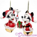 Disney Turn of the Century Mickey and Minnie Bell Set Christmas Ornaments