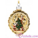 Disney Turn of the Century Mickey and Minnie Light Up Christmas Ornament