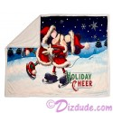 Disney Turn of the Century Mickey and Minnie Kissing Christmas Throw Blanket