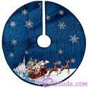 "Disney Turn of the Century Mickey and Minnie Kissing 48"" (122 cm) Christmas Tree Skirt"