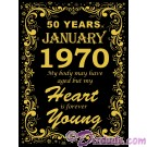 January 1970 50th Birthday T-Shirt or Tank Top (Tshirt, T shirt or Tee) © Hippieworks
