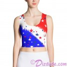 Stars and Stripes All Over Print Ladies Crop Top © Hippieworks