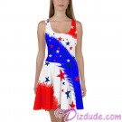 Stars and Stripes All Over Print Ladies Sun Dress © Hippieworks