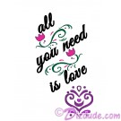All You Need Is Love T-Shirt or Tank Top (Tshirt, T shirt or Tee) © Hippieworks