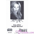 Amy Allen who played Aayla Secura Presigned Official Star Wars Weekends 2005 Celebrity Collector Photo © Dizdude.com