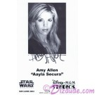 Amy Allen who played Aayla Secura Presigned Official Star Wars Weekends 2004 Celebrity Collector Photo © Dizdude.com